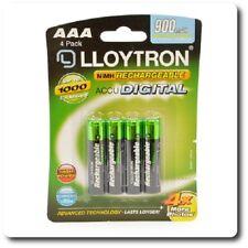 Lloytron accupower B015 Batería recargable de NiMH AAA - 900 mAh 4 Pack