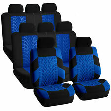 3 Row Car SUV VAN Seat Covers Set for 8 Seaters Blue