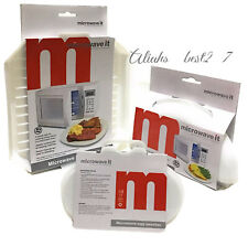 Microwave it Egg Poacher Omelette Maker and Bacon Rack Easy Cooking BPA Free.