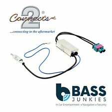 AUDI A4 2005 On Dual Twin Car Radio Double Fakra to Din Aerial Antenna Adaptor
