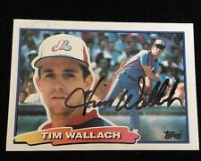 TIM WALLACH 1988 TOPPS Autograph Signed AUTO Baseball Card 7 EXPOS