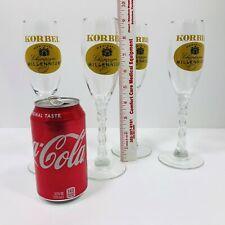 Champagne Glasses w Stem Shaped As '2000' LN 4 Korbel-Branded Flutes! Millennium