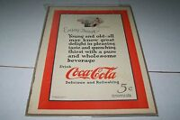 VINTAGE MAGAZINE AD #991 -  1923 COCA COLA SODA - ENJOY THIRST