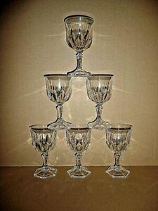 6 VERRES a vin ROUGE 15 cl , modèle CHAUMONT en cristal d'arques , lot / série