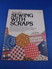 READERS DIGEST SEWING WITH SCRAPS PATTERN CRAFT HANDBOOK 1976 PURSE WREATH SCARF
