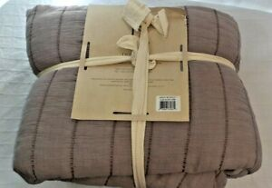 Ellen Degeneres Twin Size Marmont Chambray Purple 100% Cotton Quilt 68 x 88 NEW