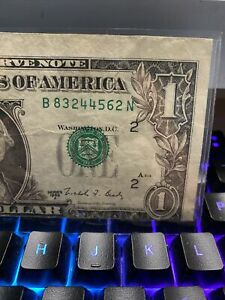 Error 1988 A US $1 Huge misaligned & miscut  Green Seal Banknote,XF!Super Rare!