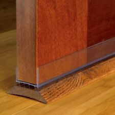 "43338 M-D Slide-On CLEAR Under Door Seal Draft Gap Bottom Weatherstrip, 36"" Long"