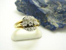 Brillant Ring 750 Gold 18 Karat Bicolor Goldring Damenring Gr. 52