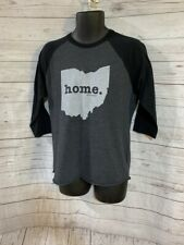 The Home T Ohio Graphic Tee 3/4 Sleeve Black/Gray Size M