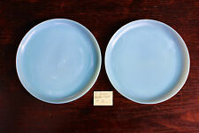 2 Fire King Turquoise Blue 9 inch Dinner Plates
