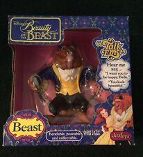 "Disney Rare Beauty & The Beast ""Talk Ems� Beast #22000 New In Box 1992 JusToys"