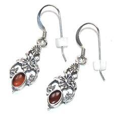 Boucles d'oreilles en argent massif 925 ambre bijou earring
