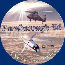 FARNBOROUGH '96 A NEW ERA HAS BEGIN SIKORSKY HELICOPTER STICKER