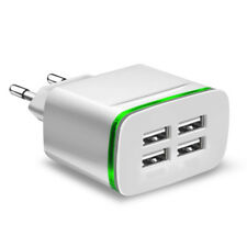 EU Plug 4 Ports USB Fast Charging Universal Phone Charger HUB for iPhone Samsung