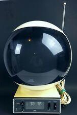 Vintage 1970's JVC Videosphere space helmet TV W/Alarm clock working
