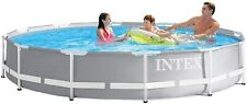 Intex 26712 12ft x 30in Prism Metal Frame Above Ground Swimming Pool 220V Filter