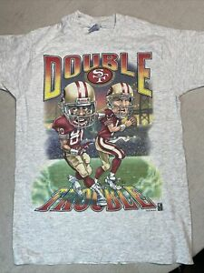 Jerry Rice Steve Young 49ers Graphic Caricature T Shirt Medium Double Trouble