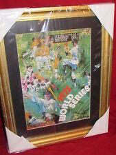 Leroy Neiman Matted & Framed Print of 1975 World Series Program Artwork 18x23