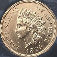 1899 INDIAN HEAD PENNY 4  SHARP DIAMONDS  ***BEAUTIFUL COIN***Cleaned