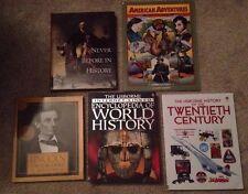 5 High School History books - Usborne, American Adventures, World History Lincol