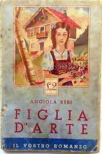 ANGIOLA REBI FIGLIA D'ÁRTE IL VOSTRO ROMANZO N.2 EDIZIONI ALPE 1941