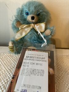 "Merrythought Cheeky Scent  Bottle Bear 6"" Mohair Limited Edition With Tag"