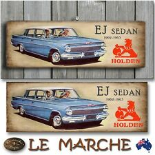"🚘 HOLDEN GM ""EJ Sedan"" Wooden Rustic Plaque / Sign (FREE POST) 🚘"