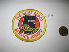 OLD THE HOME DEPOT EMPLOYEE 5 YEARS OF SERVICE AWARD PATCH