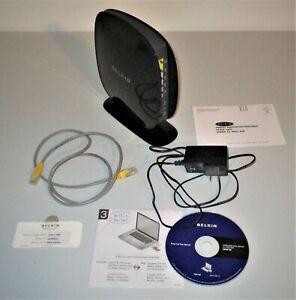 2011 Belkin N600 DB Wireless N+ Router Model F9K1102v1 w/Orig Cords, CD & Card