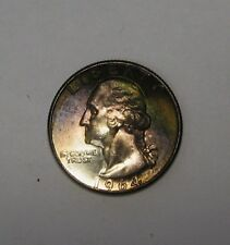 Stunning Deeply Toned 1964 Washington Quarter Gem BU     L108