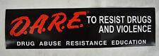 D.A.R.E. Bumper Sticker Official DARE Resist Drug Abuse Violence Marijuana