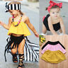 Cute Infant Toddler Baby Girls Summer Tube Tops T-shirts Casual Blouse Clothes