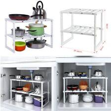 Homfa Spülbeckenunterschrank Regal Küchen-Unterschrankregal Flexi 39 - 66cm Hot