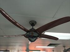 "Vento Uragano 54"" indoor fan woodgrain blades and gun metal body"