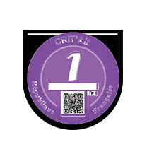 Vignette CRIT AIR support macaron pollution Stickers auto rétro