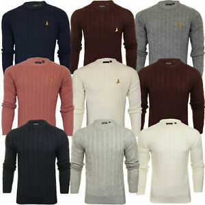 Mens Wool Mix Jumper Brave Soul MAO Chunky Knitted Pullover Sweater Top MAOISM