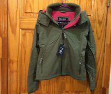 New Hollister Women All-Weather Stretch Fleece-Lined Jacket Olive XS