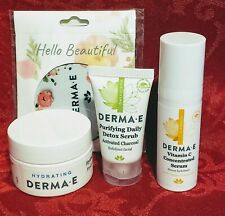 DERMA E Skin Care  The Perfect Travel kit With Bag. TSA Approved Sizes