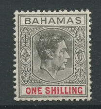 Bahamas SG155c 1944 1s Gery-black and bright crimson (ordinary paper) Mounted mi