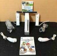 Nintendo Wii Console Bundle-Mario Kart + Wii Sports + 2 Controllers-Tested