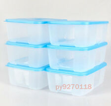 Tupperware Freezer Mates (6 Cup / 1.5L) Blue Seal Set of 6 + Free Shipping