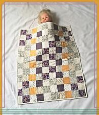 Multi Toned Pram Bassinet, Crib, Capsule, Baby and Doll Quilt. Large Size.