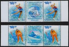 0625 SERBIA 2014 - Olympic Winter Games Sochi -  Figure skating - Middle Row MNH