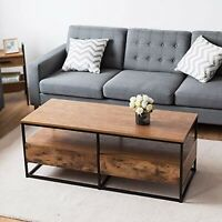Rustic Farmhouse Coffee Table Unique Style Modern Wood Accent Storage