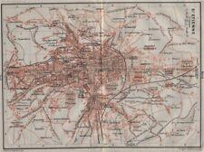 St-etienne st-etienne antique ville city plan de la ville. loire carte 1907 carte