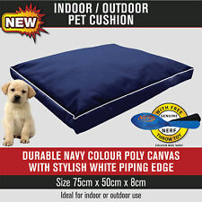 *NEW* Pet Dog Indoor Outdoor Pillow Cushion Navy Blue Poly Canvas