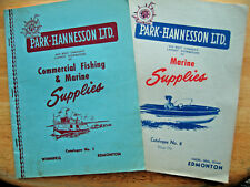 Vintage 1950s Set of 2 Park-Hannesson Fishing & Marine Supplies Catalogues