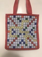Scrabble Board Game Tote Bag -Hasbro & Toys R Us - Red - Preowned