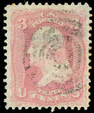 momen: US Stamps #64 Used Pink Cat. $1,000